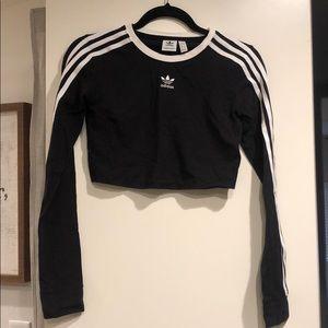 Black LS adidas crop top